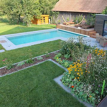 piscines spas pool house tom pousse paysage. Black Bedroom Furniture Sets. Home Design Ideas